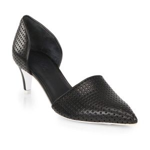 VIince Aurelian Perforated black heels